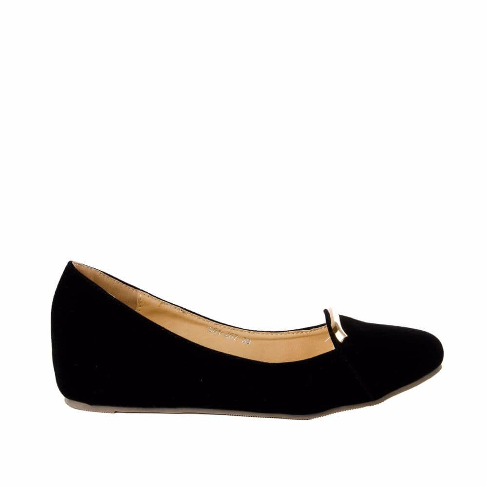 Elegant Black velvet Wedges - Joker & Witch - 1