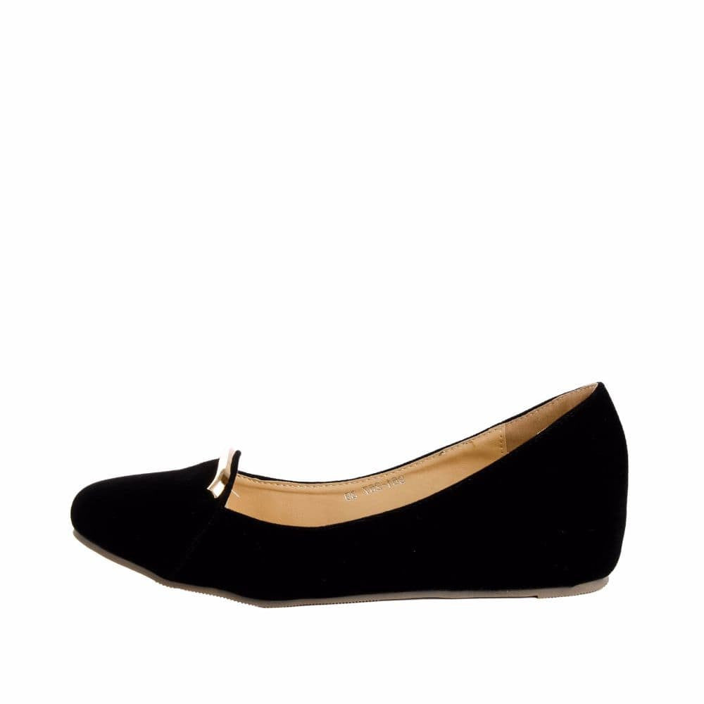 Elegant Black velvet Wedges - Joker & Witch - 5