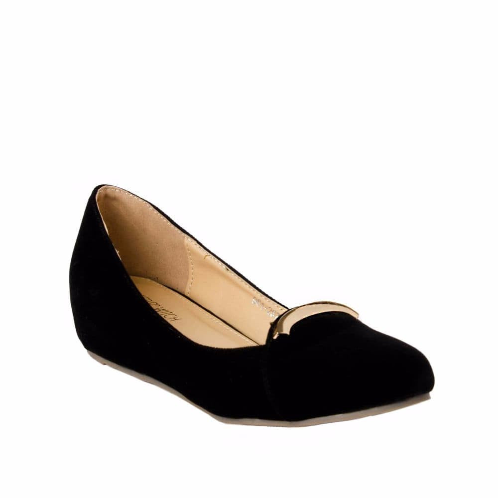 Elegant Black velvet Wedges - Joker & Witch - 6