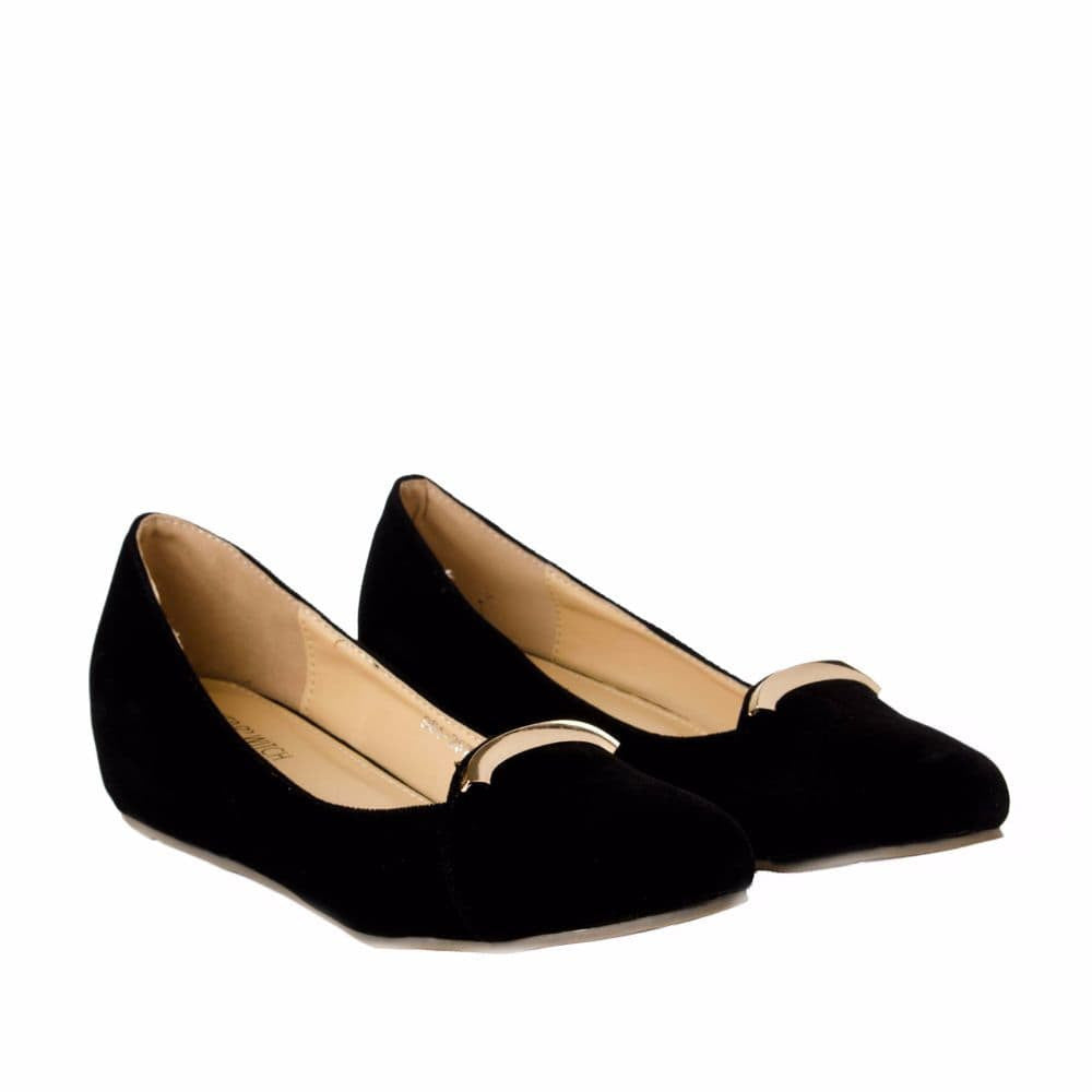 Elegant Black velvet Wedges - Joker & Witch - 7