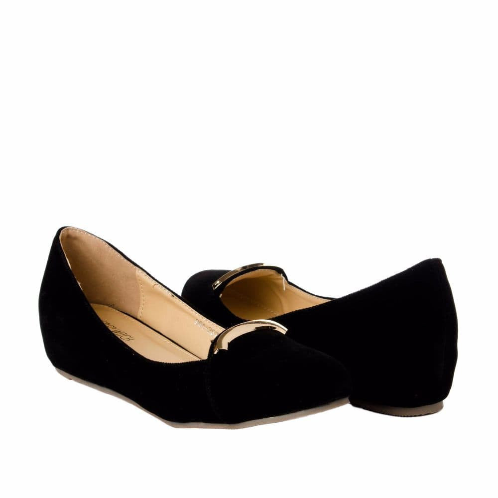 Elegant Black velvet Wedges - Joker & Witch - 8