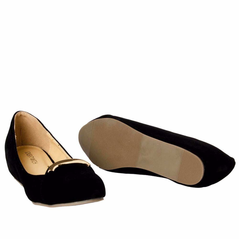 Elegant Black velvet Wedges - Joker & Witch - 10
