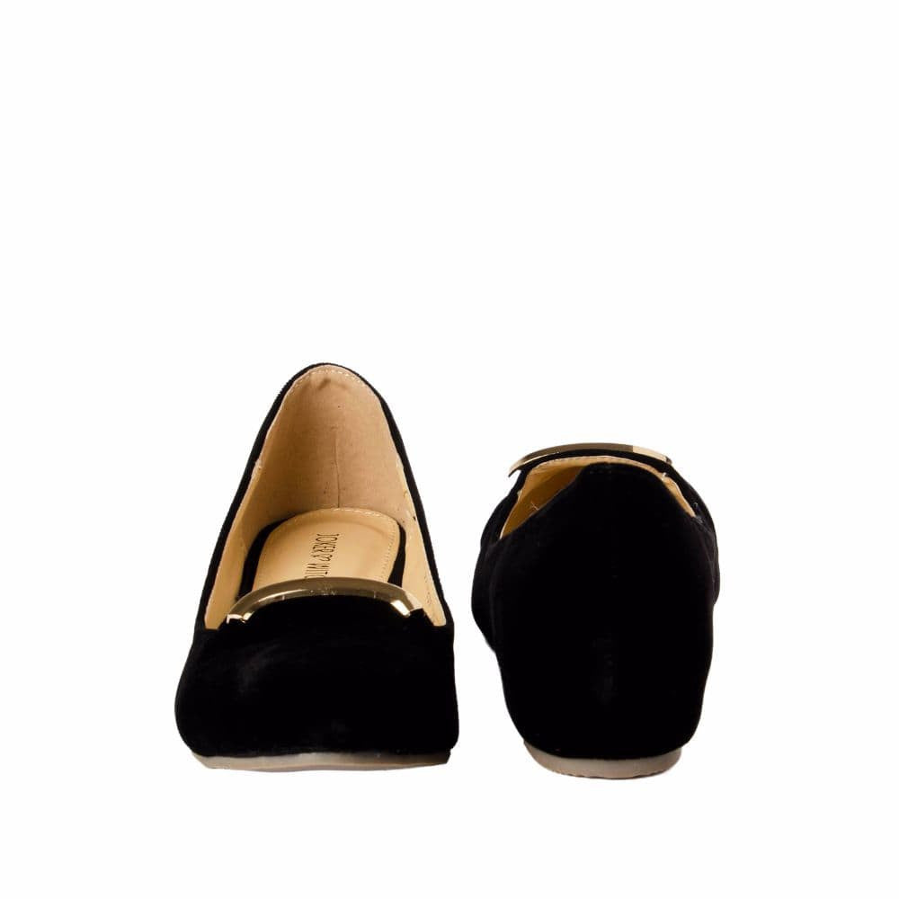 Elegant Black velvet Wedges - Joker & Witch