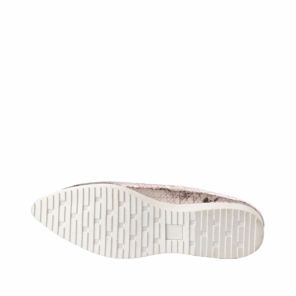 Textured Light Pink Flatform Ballerinas - Joker & Witch - 12