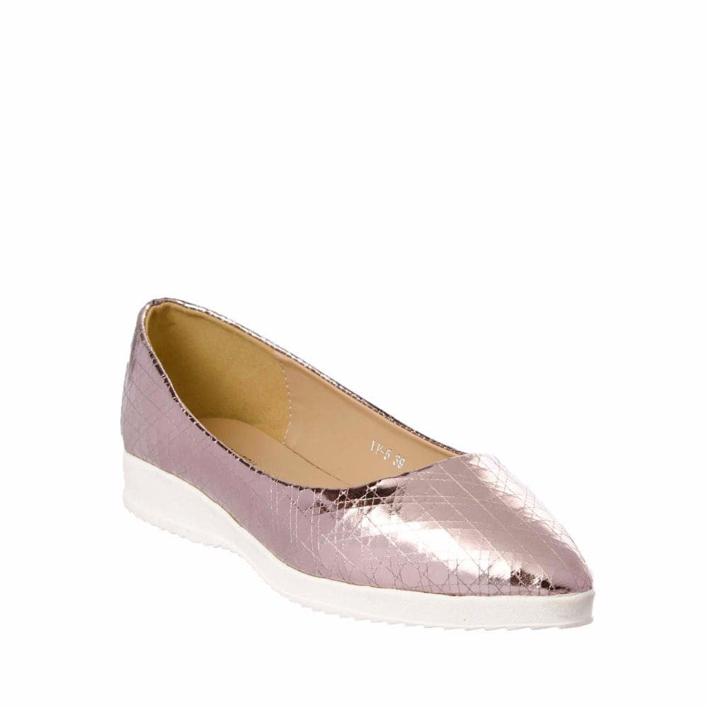 Textured Light Pink Flatform Ballerinas - Joker & Witch - 6