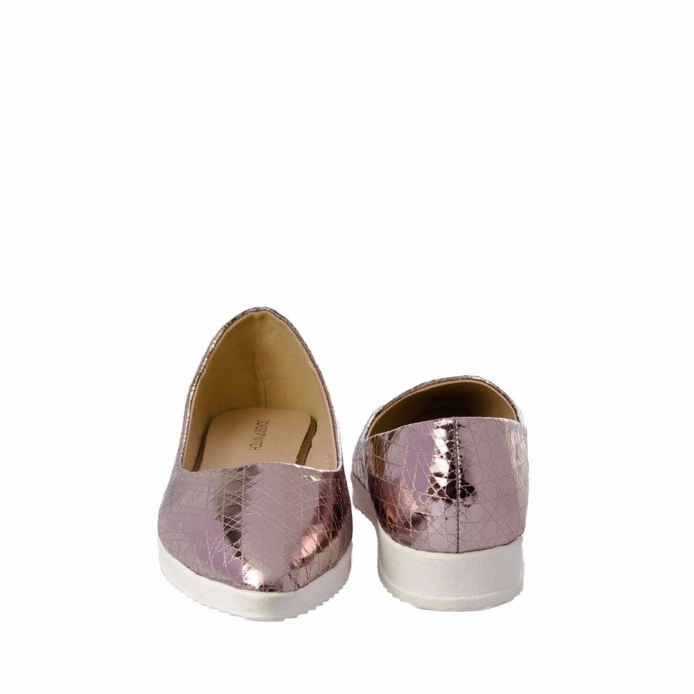 Textured Light Pink Flatform Ballerinas - Joker & Witch - 10