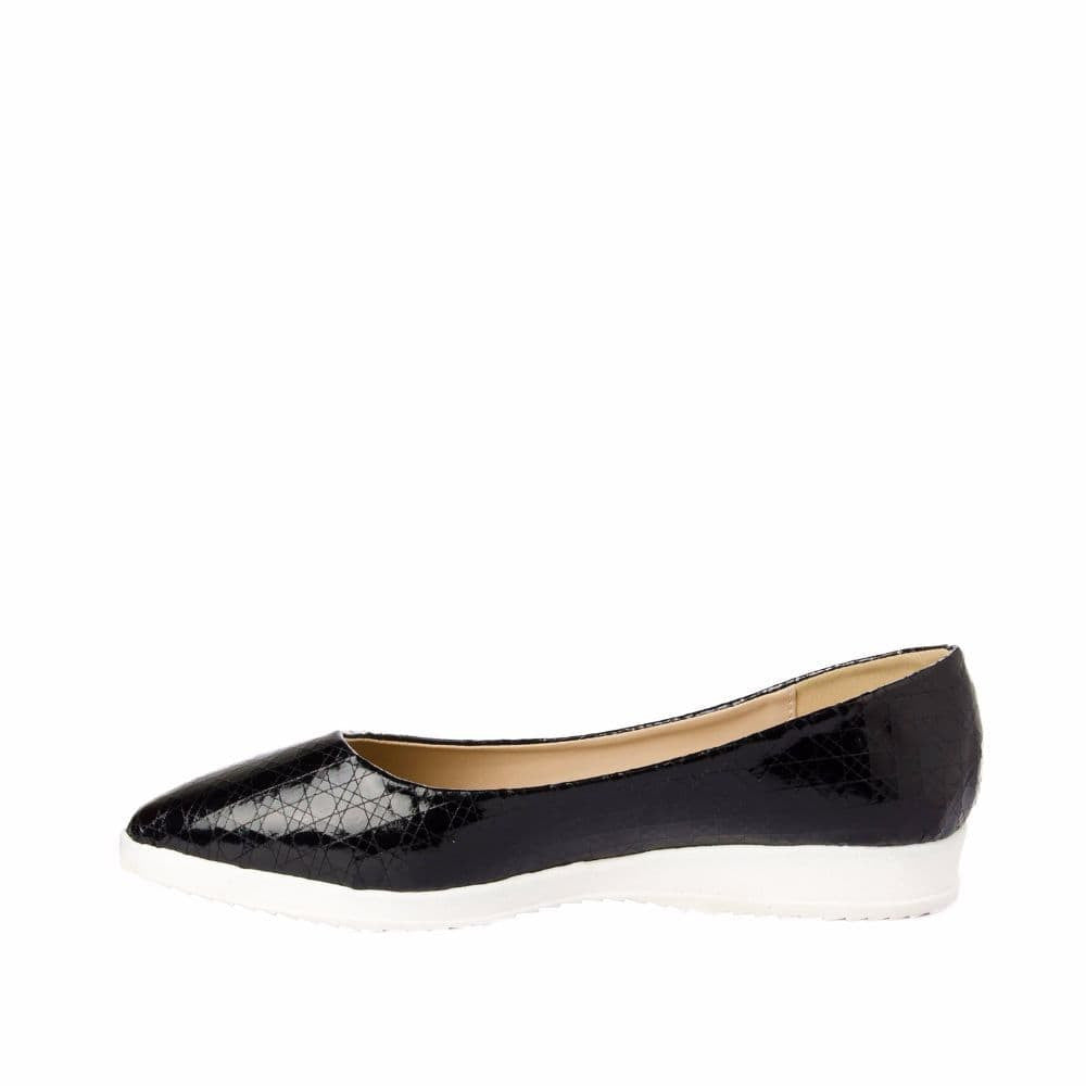 Textured Black Flatform Ballerinas - Joker & Witch - 5