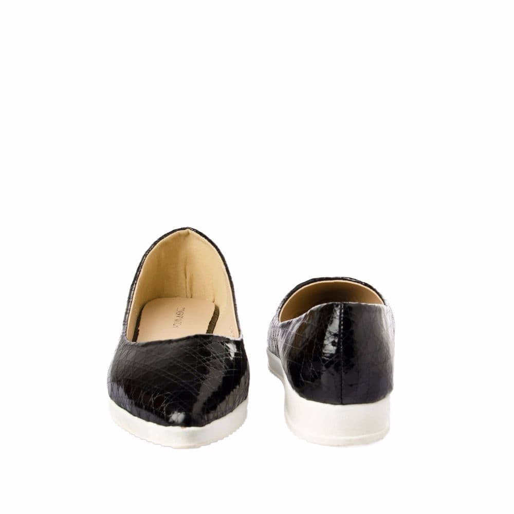 Textured Black Flatform Ballerinas - Joker & Witch - 10