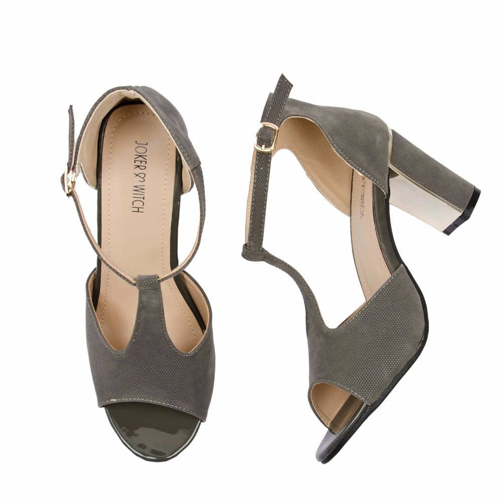 Metallic Block heels Grey - Joker & Witch - 2
