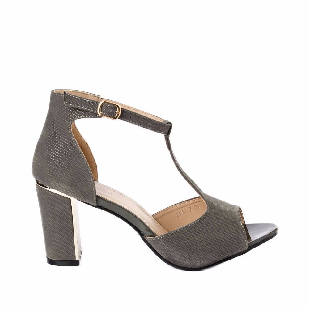 Metallic Block heels Grey - Joker & Witch - 1
