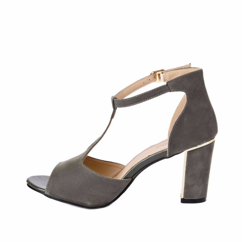 Metallic Block heels Grey - Joker & Witch - 4