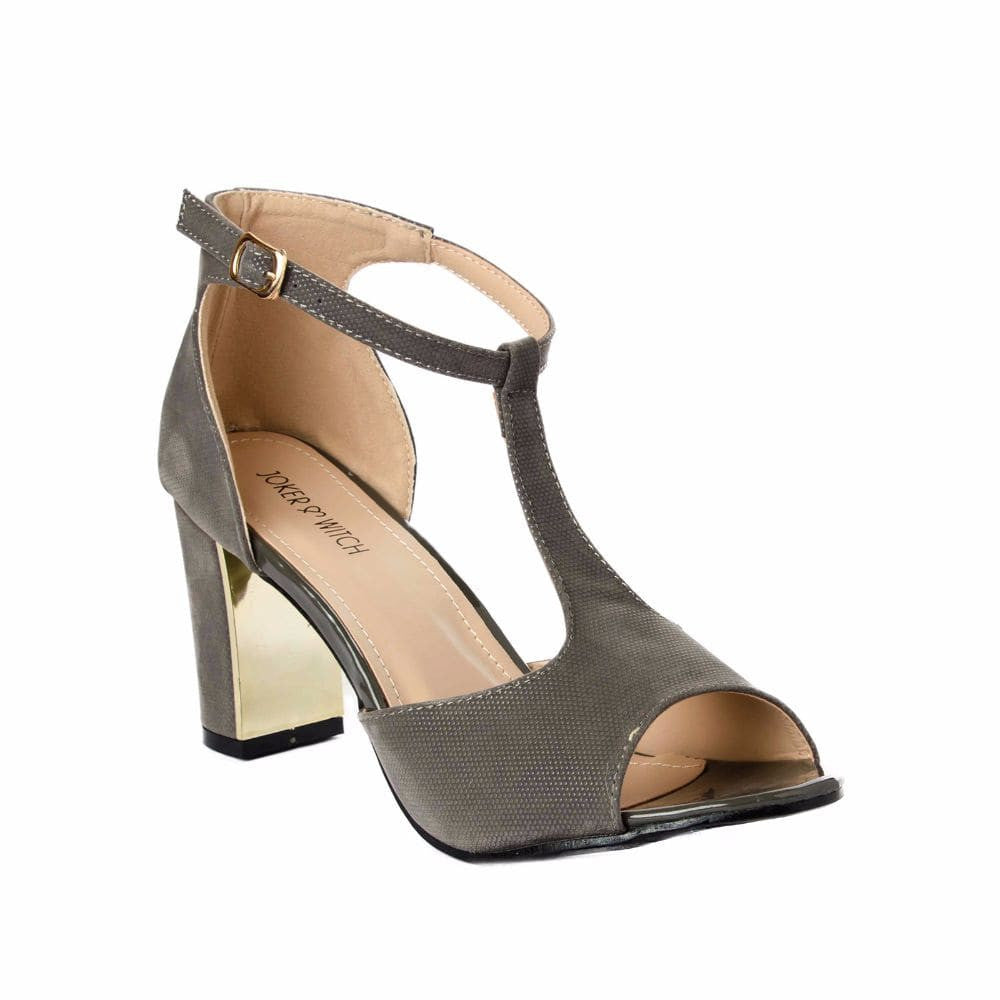 Metallic Block heels Grey - Joker & Witch - 5
