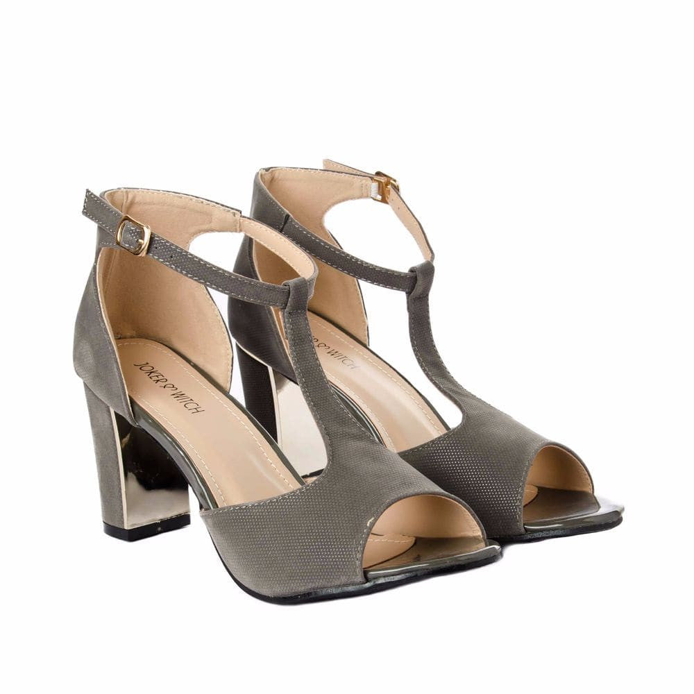 Metallic Block heels Grey - Joker & Witch - 6