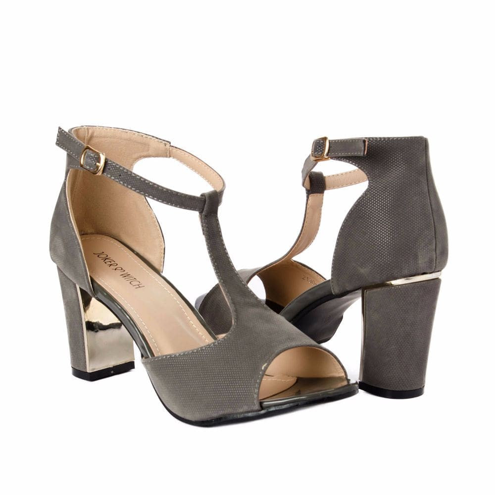 Metallic Block heels Grey - Joker & Witch - 7