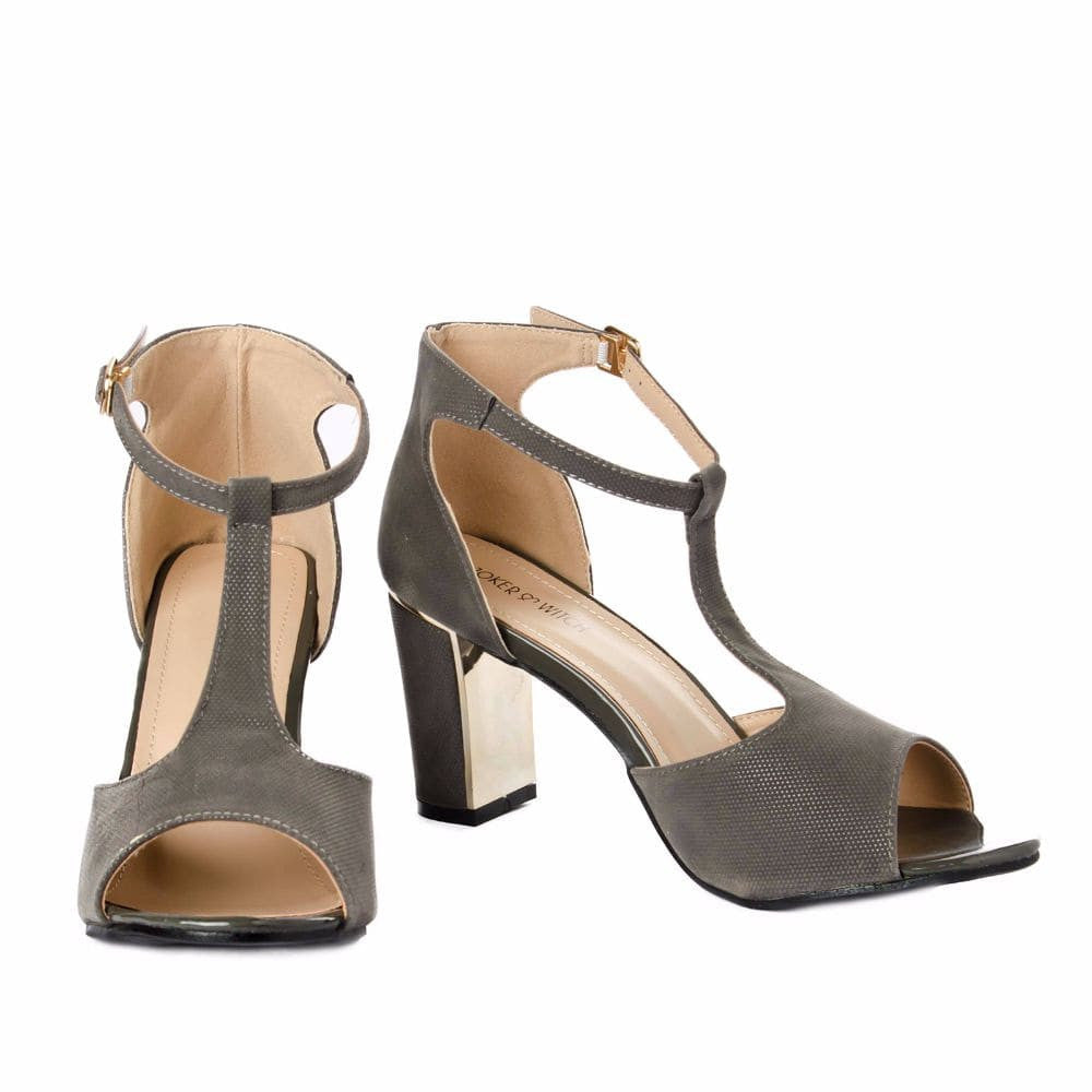 Metallic Block heels Grey - Joker & Witch - 3