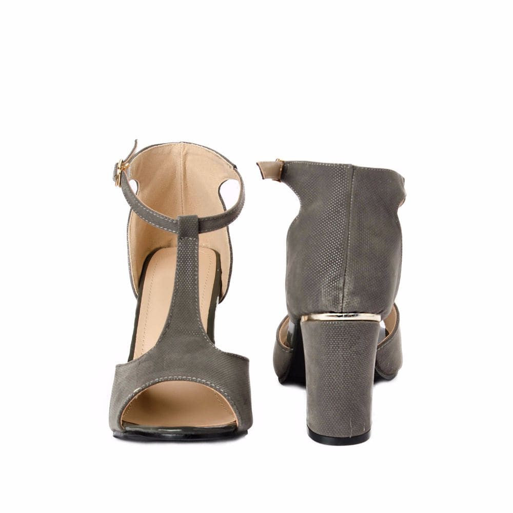 Metallic Block heels Grey - Joker & Witch - 9