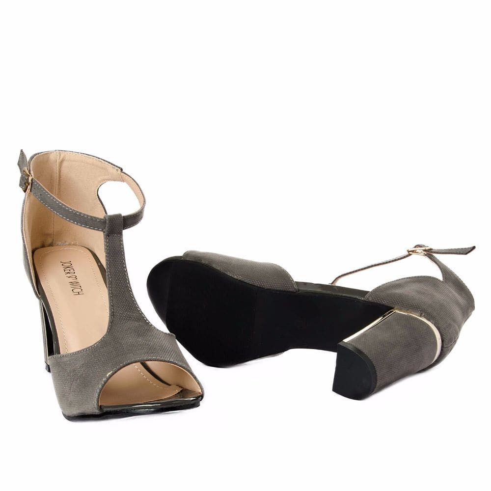 Metallic Block heels Grey - Joker & Witch - 10