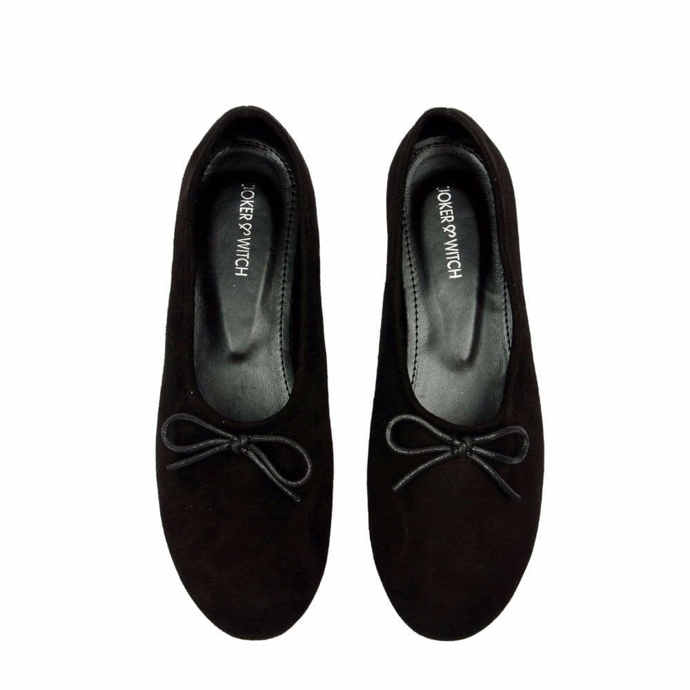 Simple Suede Black Shoes - Joker & Witch - 4