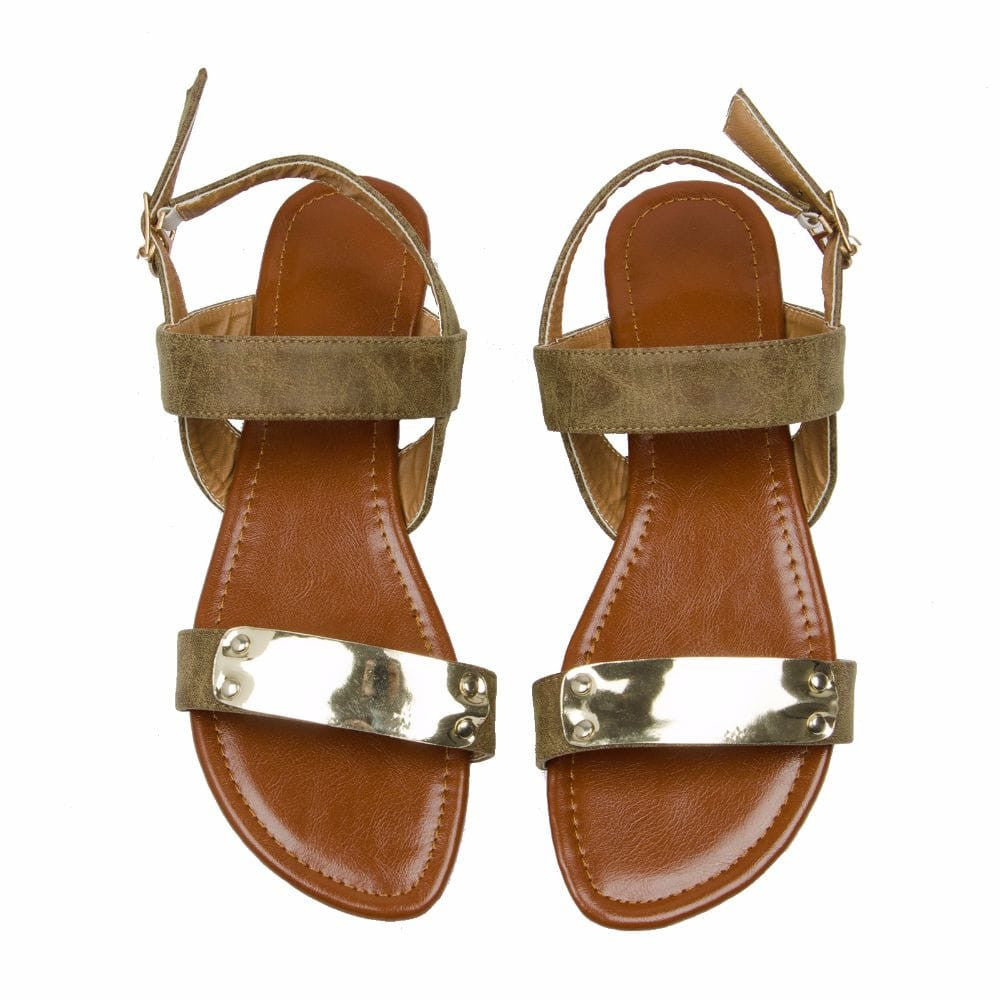 Classic strap Olive Brown sandal - Joker & Witch - 3