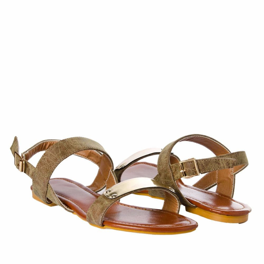 Classic strap Olive Brown sandal - Joker & Witch