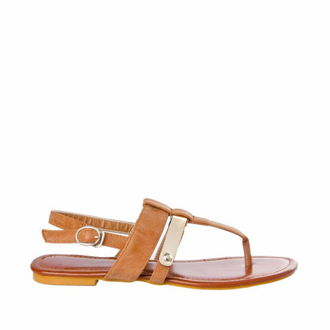 7ad9472ef35 Joker   Witch. Thong strap Tan sandals
