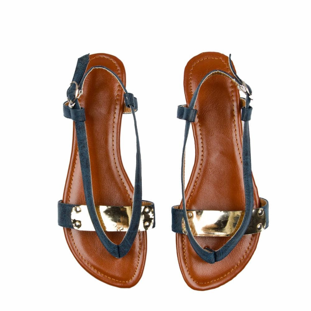 V strap Blue Sandals - Joker & Witch - 3