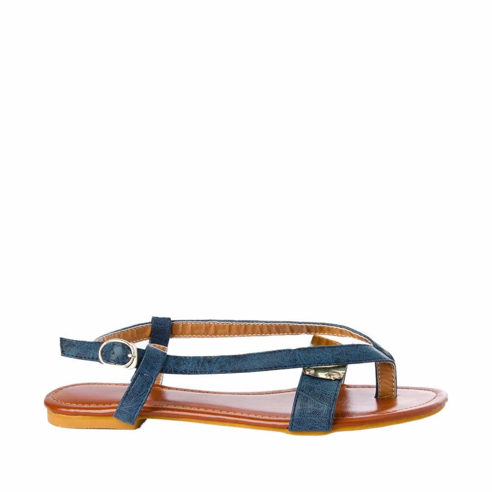 V strap Blue Sandals - Joker & Witch - 1