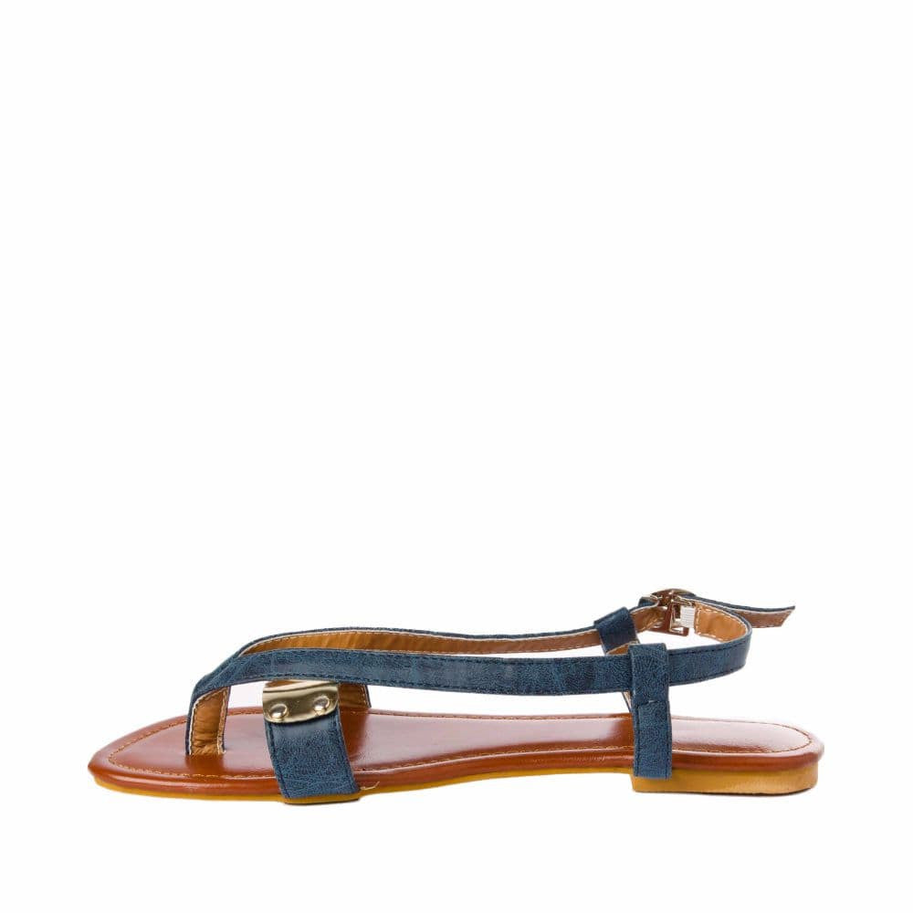 V strap Blue Sandals - Joker & Witch - 5