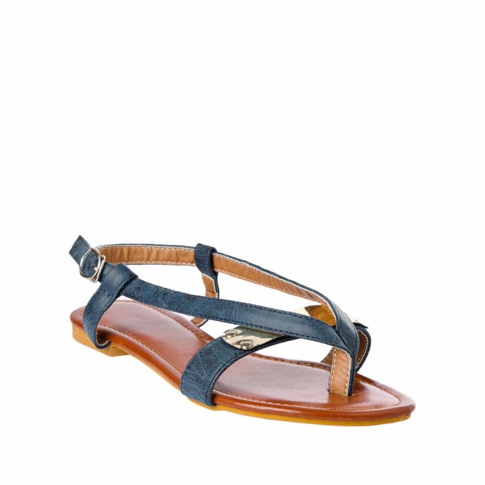 V strap Blue Sandals - Joker & Witch - 6