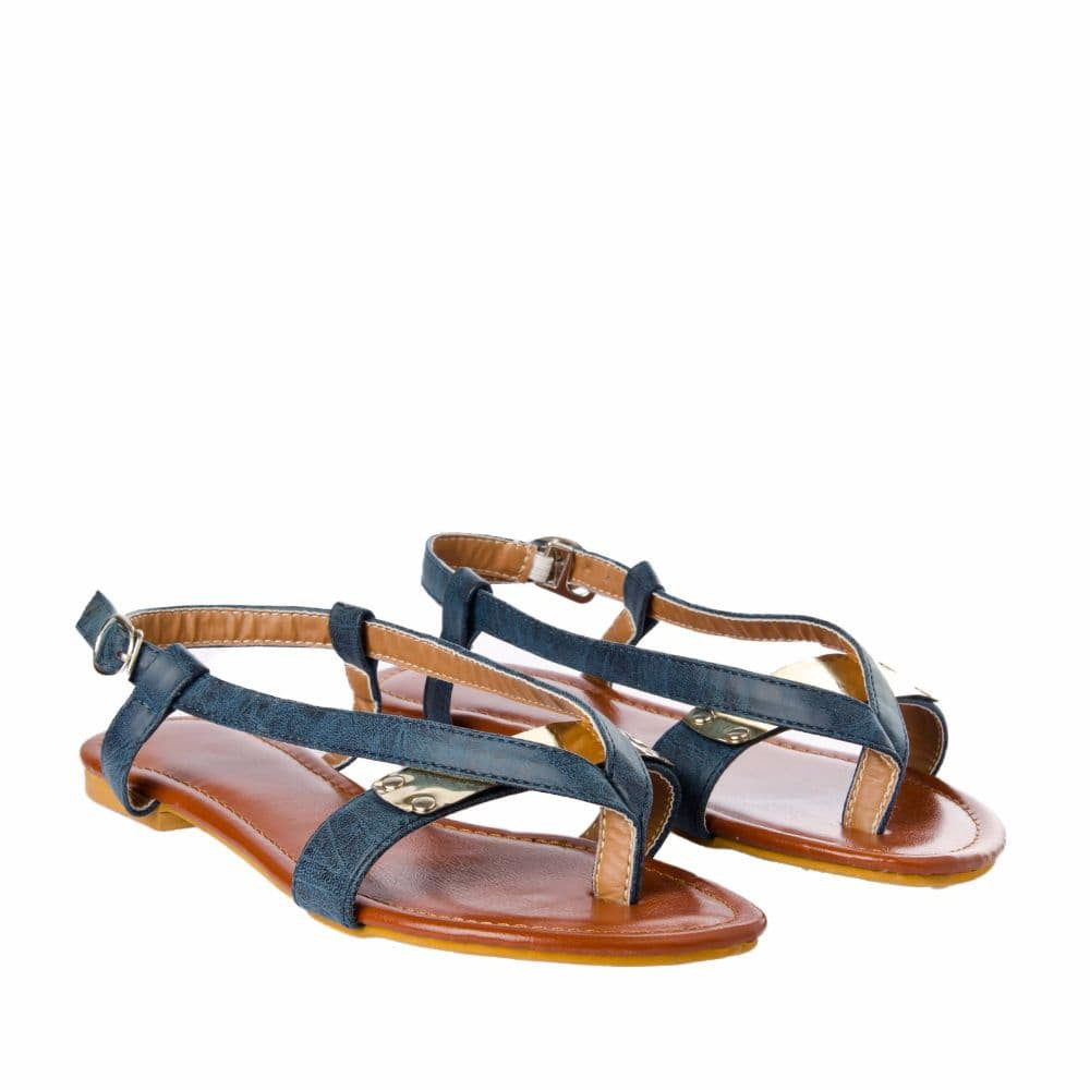 V strap Blue Sandals - Joker & Witch - 7