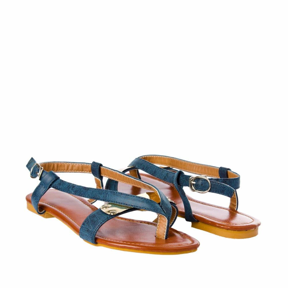 V strap Blue Sandals - Joker & Witch - 8