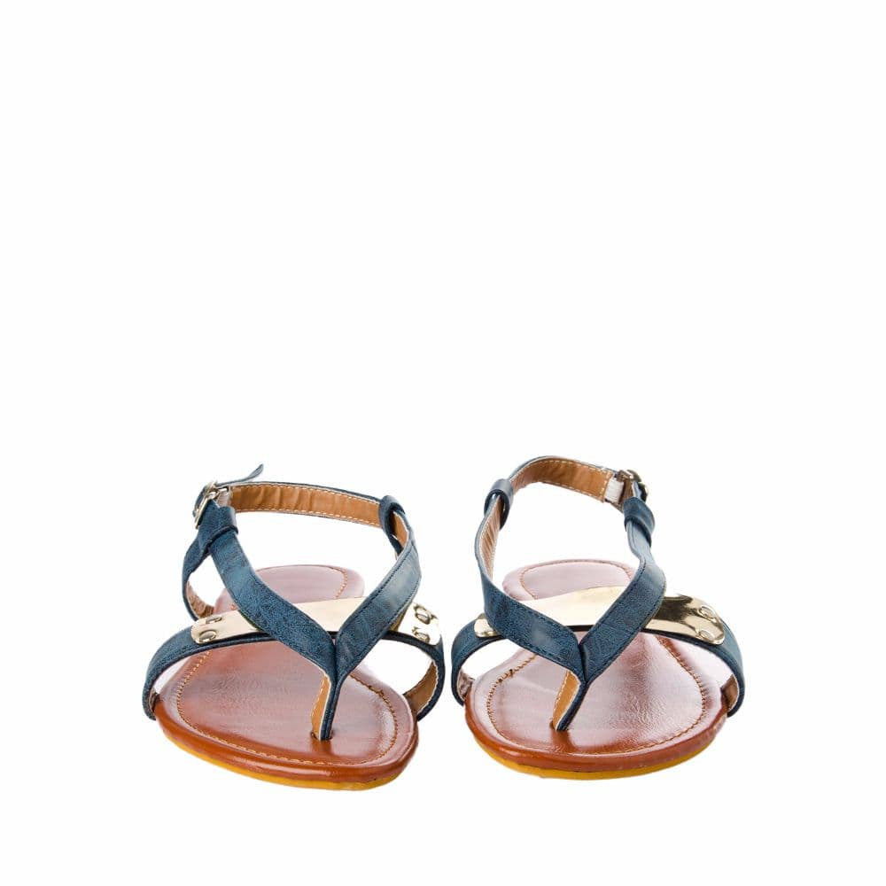 V strap Blue Sandals - Joker & Witch - 9