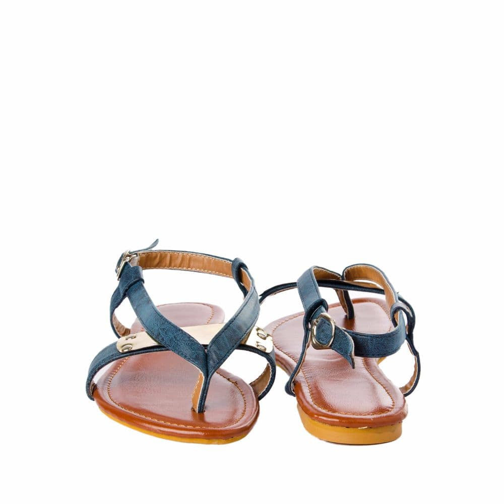 V strap Blue Sandals - Joker & Witch - 10