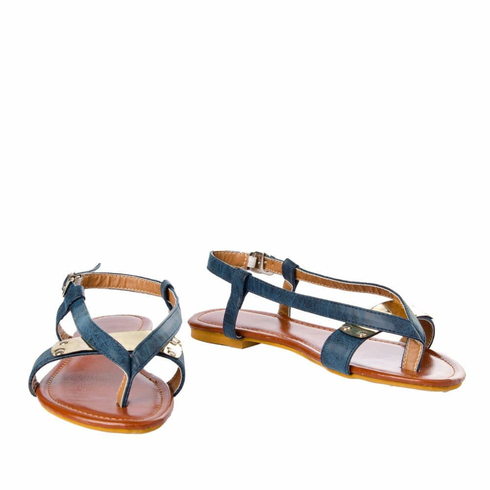 V strap Blue Sandals - Joker & Witch - 4