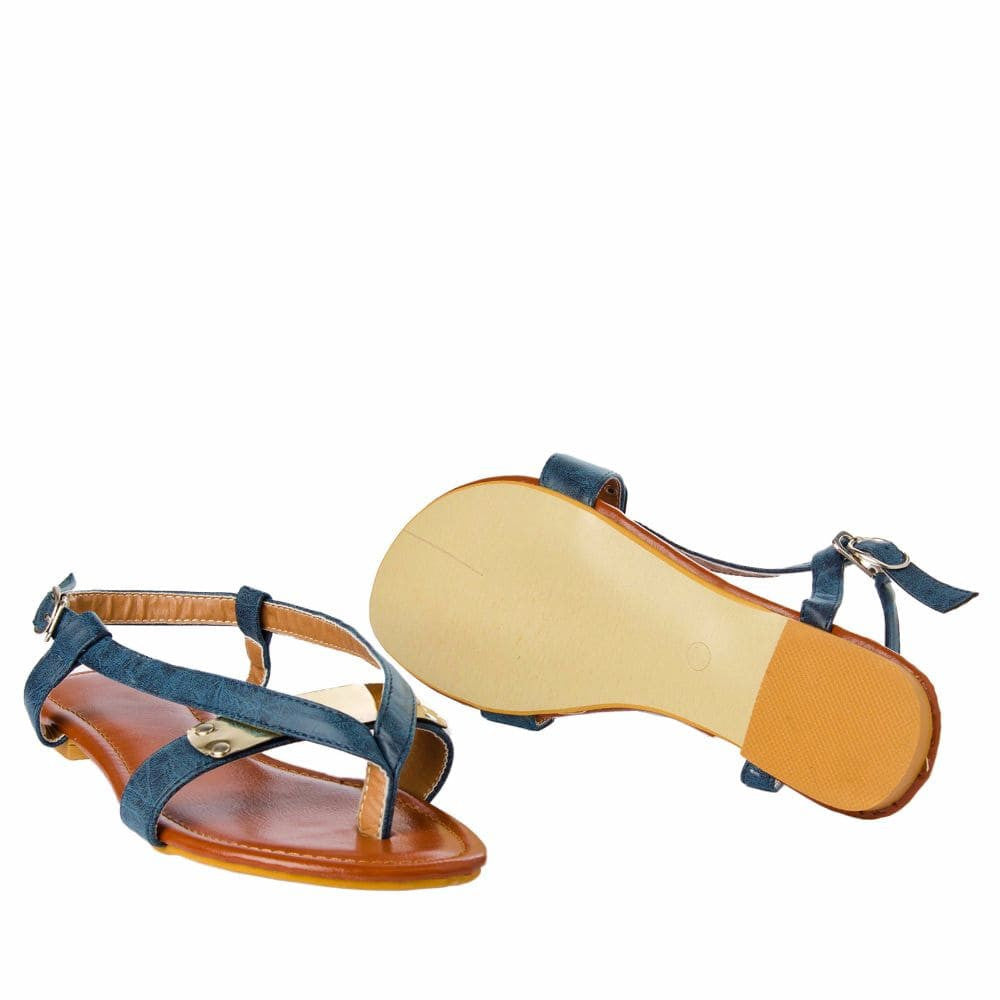 V strap Blue Sandals - Joker & Witch - 11