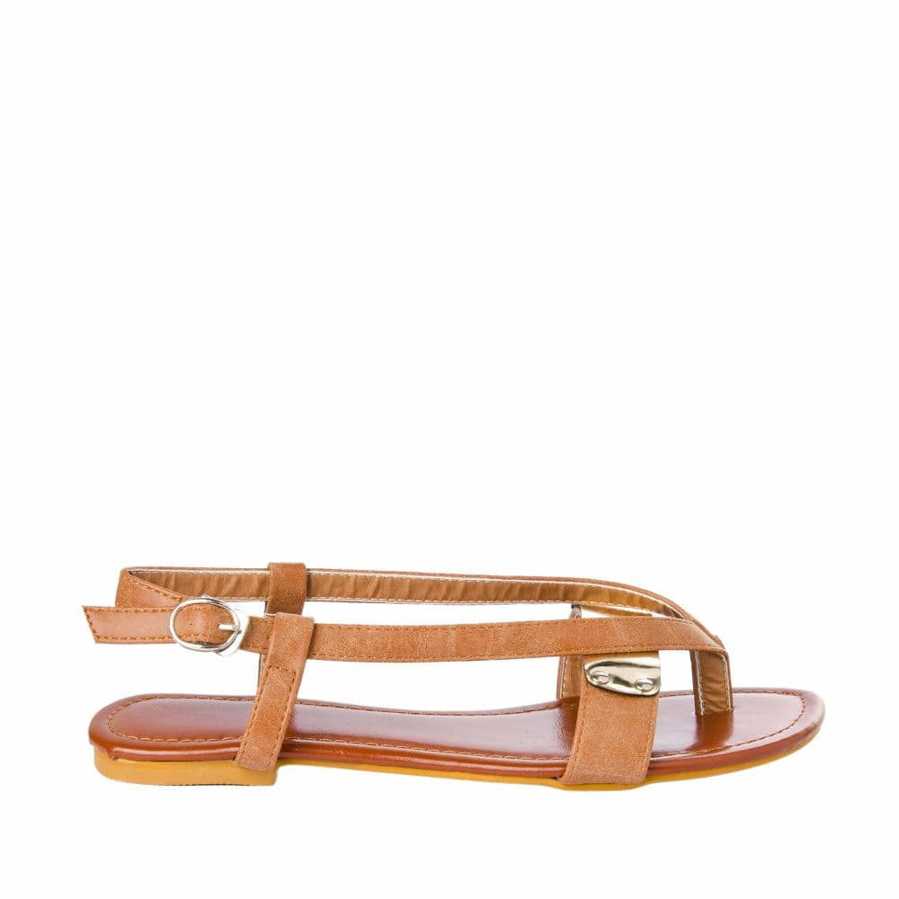 V strap Brown Sandals - Joker & Witch - 1