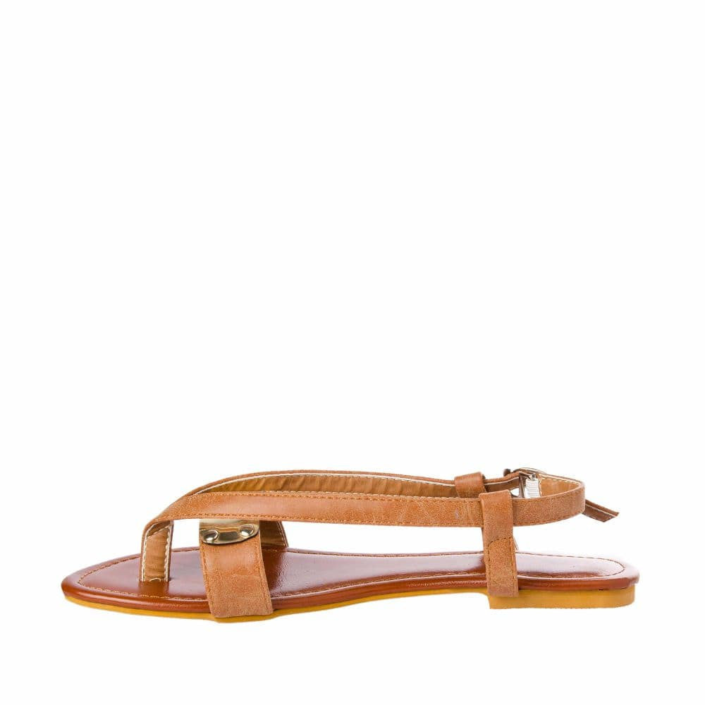 V strap Brown Sandals - Joker & Witch - 5