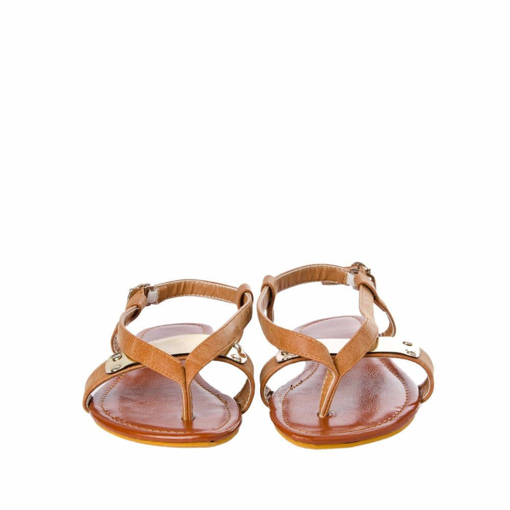 V strap Brown Sandals - Joker & Witch - 9
