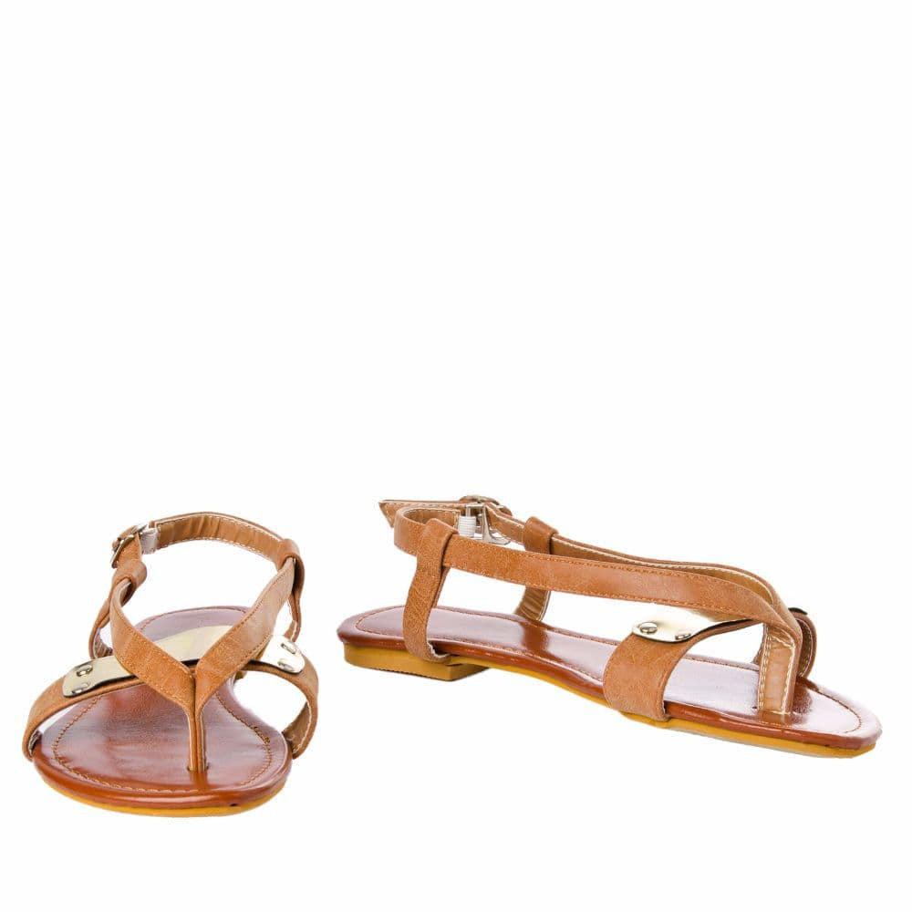 V strap Brown Sandals - Joker & Witch - 4