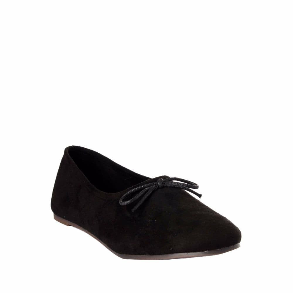 Simple Suede Black Shoes - Joker & Witch - 6