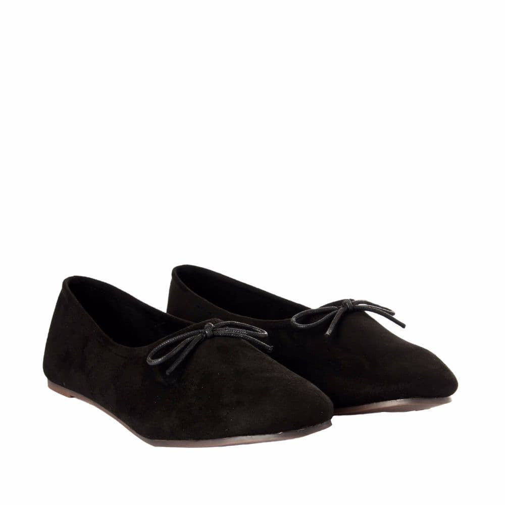 Simple Suede Black Shoes - Joker & Witch - 7