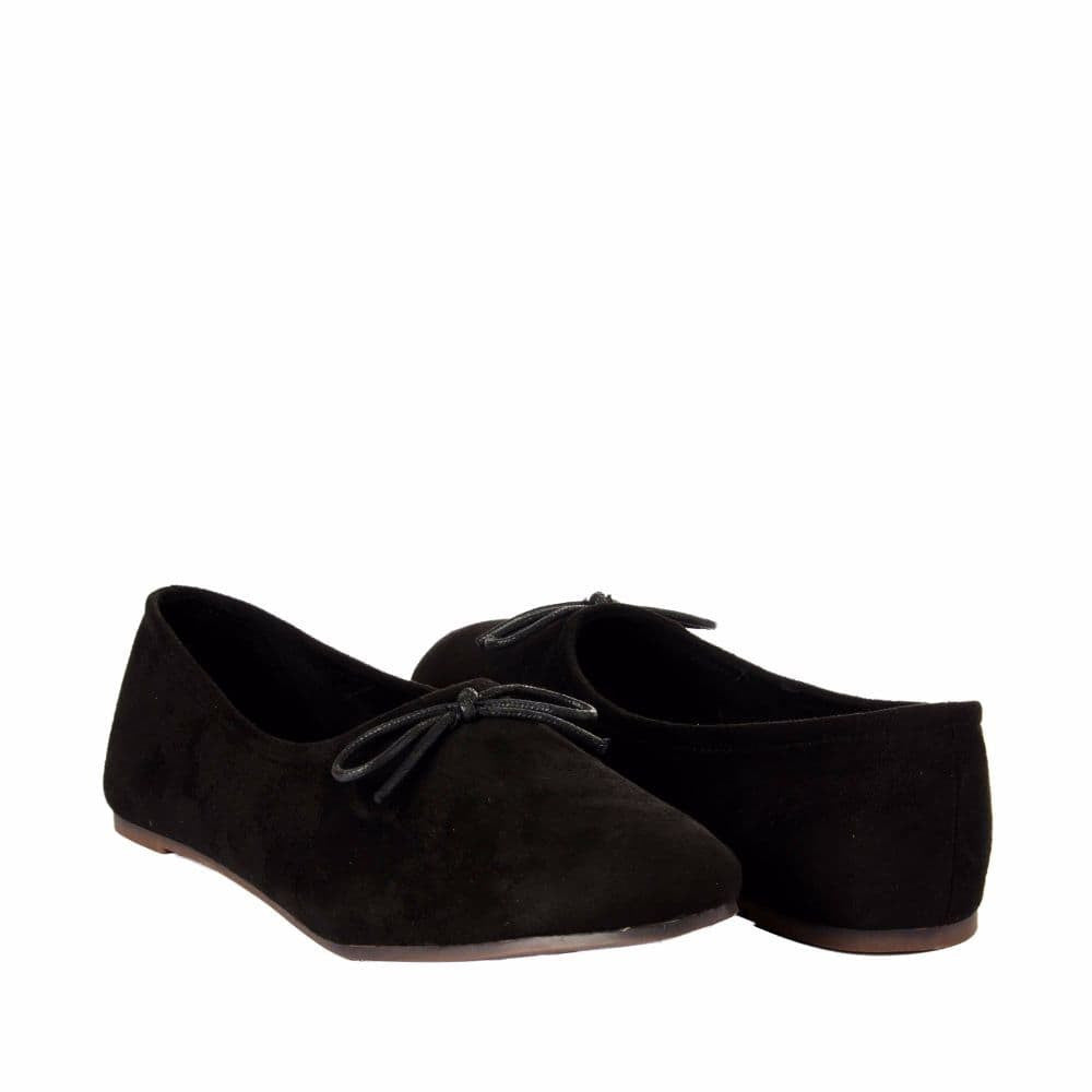 Simple Suede Black Shoes - Joker & Witch - 8
