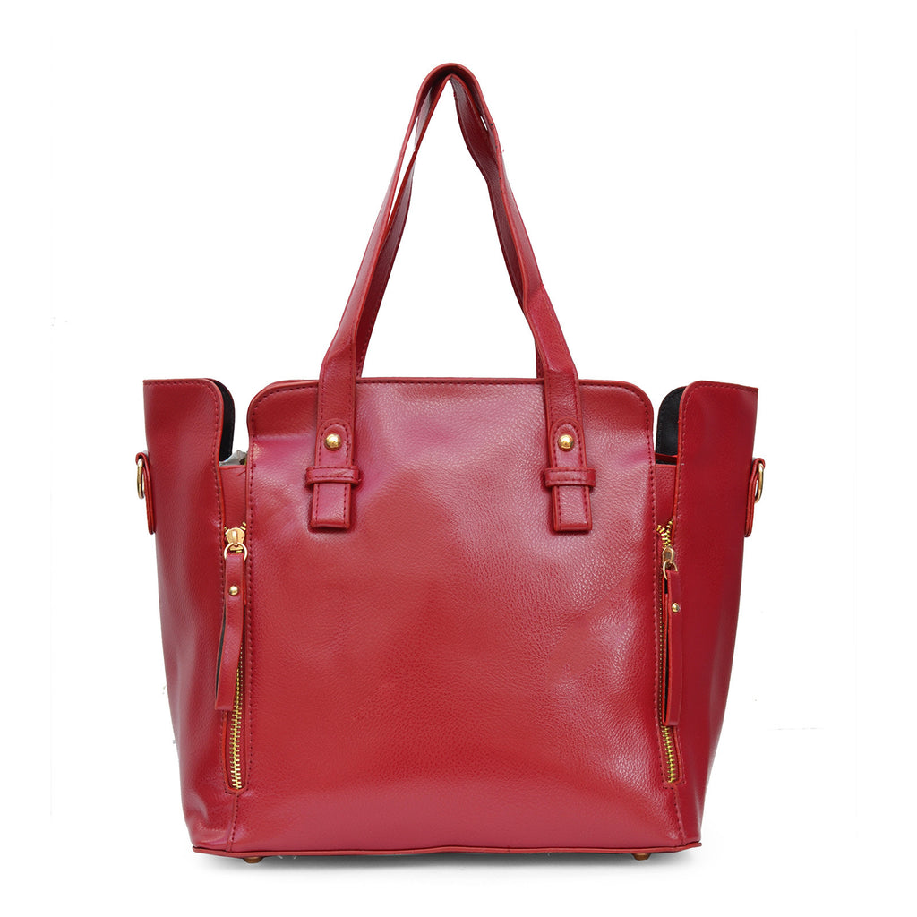 Double Zipper Red Tote bag