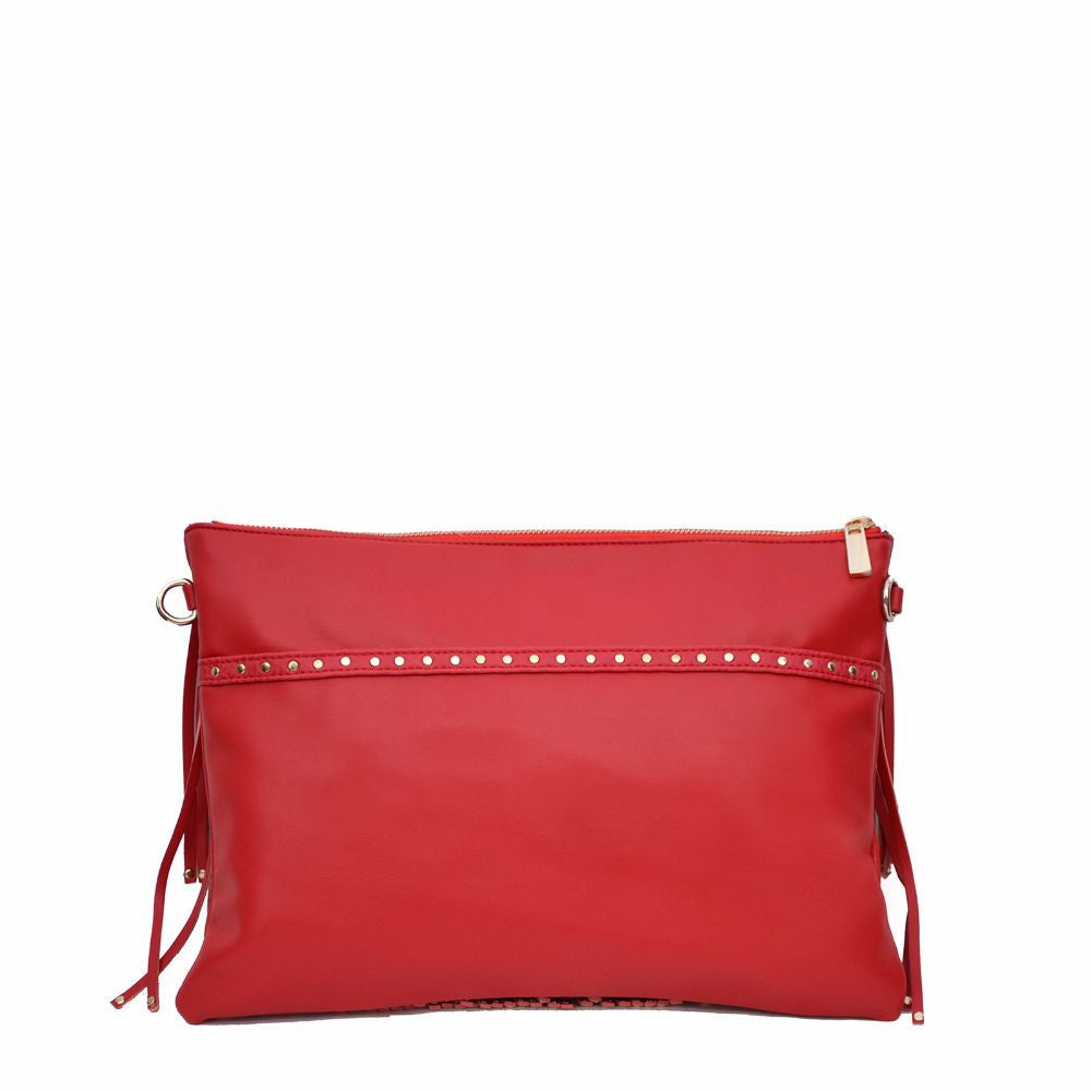 Rivet Fringe Red Clutch cum Sling - Joker & Witch - 5
