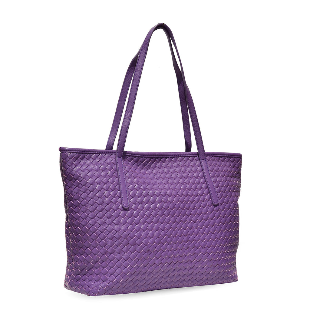 Woven purple shoulder bag - Joker & Witch