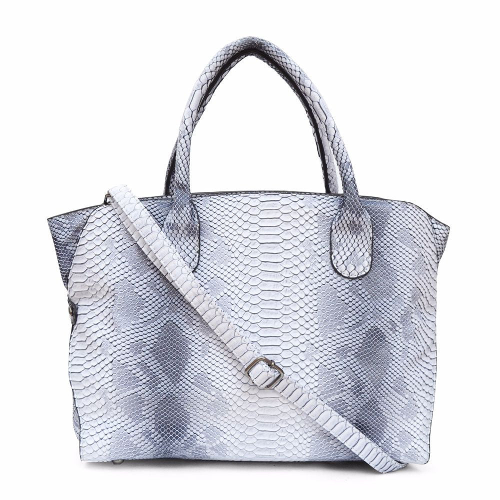 Snake Print White Shoulder Bag - Joker & Witch - 1