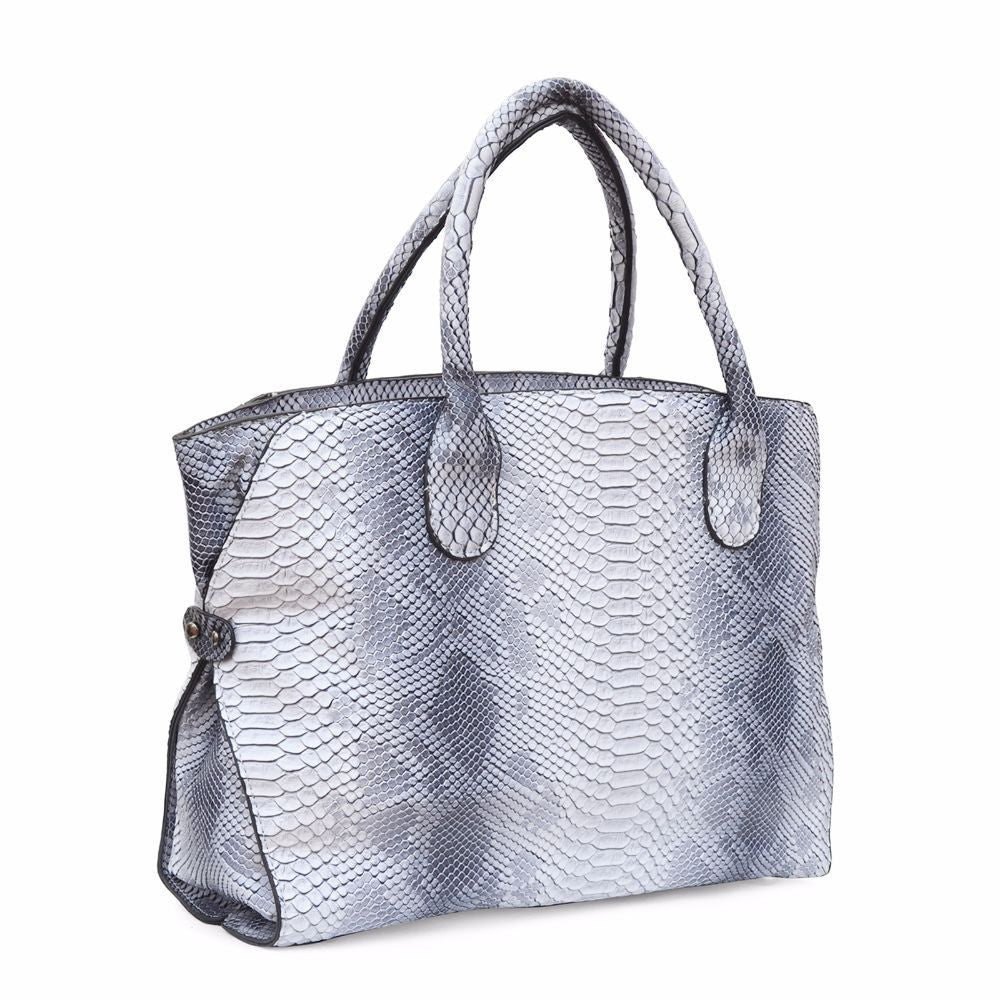 Snake Print White Shoulder Bag - Joker & Witch - 3