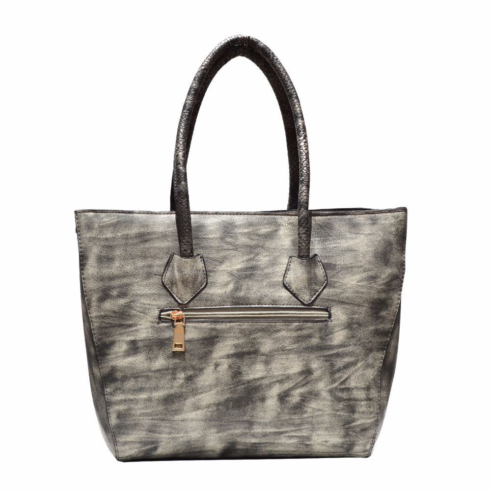 Quilted Grey Tote Bag - Joker & Witch - 5
