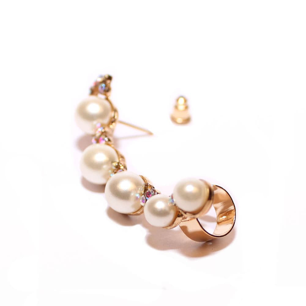 Simple Pearl Earcuff - Joker & Witch - 3