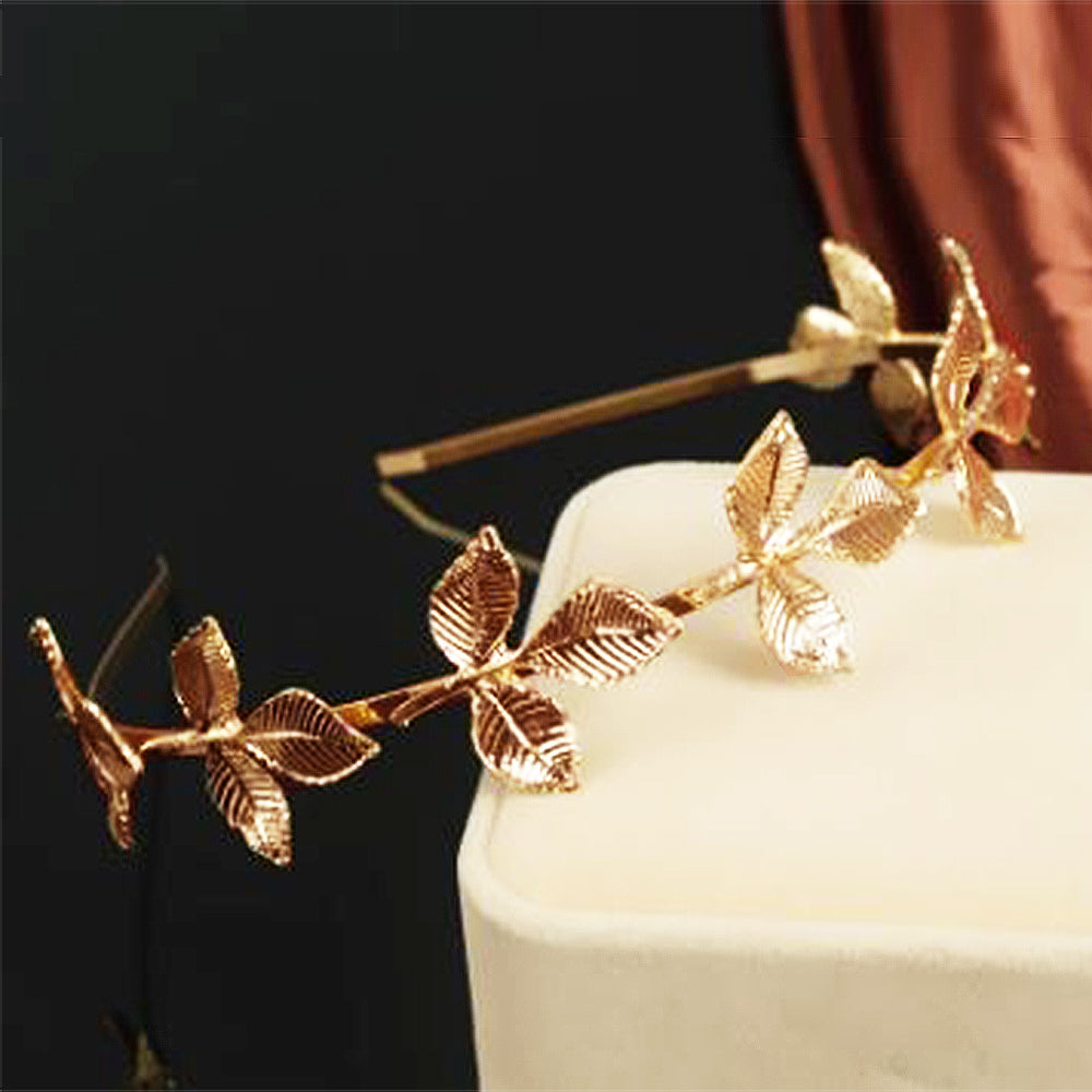 Grecian Leaves Rosegold Hairband